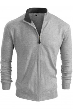 BRADFORD CARDIGAN - GREY/MEDIUM GREY