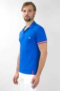 Paris - Polo coton piqué tricolore bleu/blanc/rouge