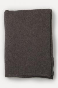 Étole tricotée cachemire chocolat