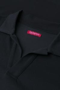 Wellington - Polo coton piqué bicolore noir/blanc