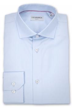 Chemise Bleue Coton italien Oxford à coupe ajustée