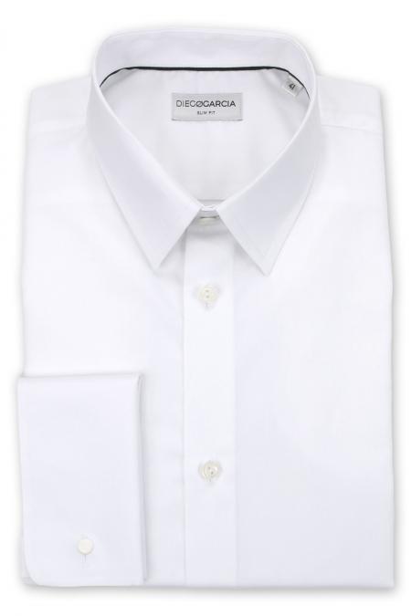 Manhattan - Chemise cérémonie popeline blanche / Slim