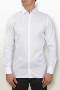 Faubourg - Chemise classique popeline blanche / Slim