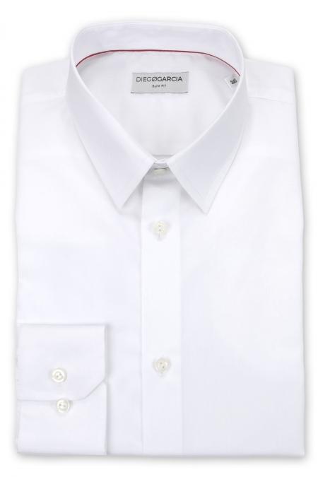 Savile - Chemise classique popeline blanche