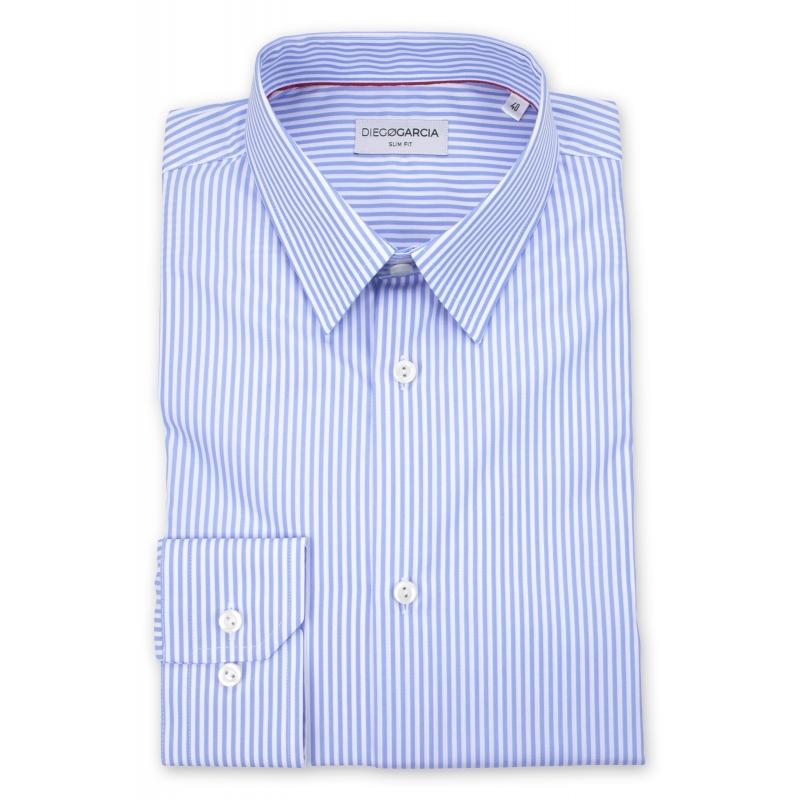 Diego à Garcia Homme fit bleues slim Chemise Chemises rayures S01w0v