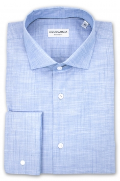 Melbourne chambray slim fit dress shirt