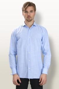 Melbourne - Chemise cérémonie chambray bleu ciel