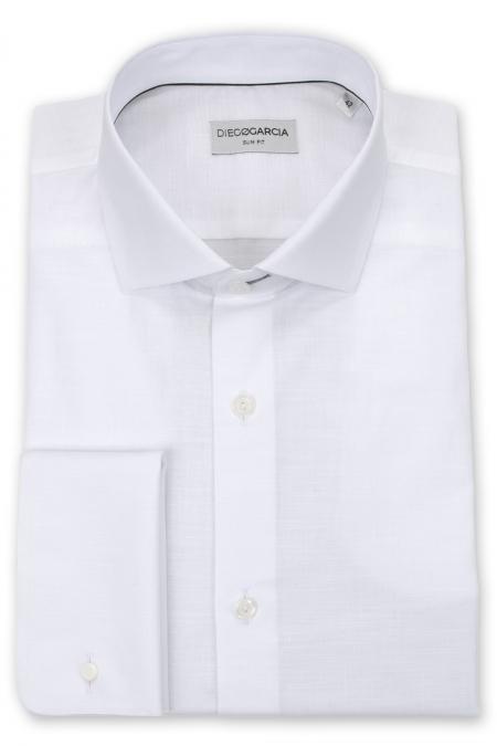 Melbourne - Chemise cérémonie chambray blanche