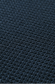 Navy blue knitted silk tie