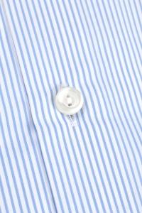 Mayfair - Chemise classique popeline à rayures bleues / Slim