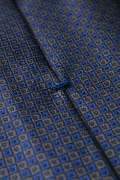 Bicolor squared silk tie