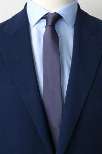 Cravate fine grise