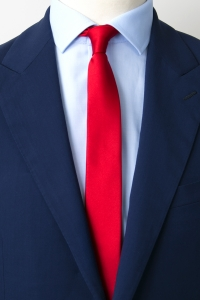 Red thin tie