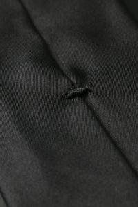 Black thin tie