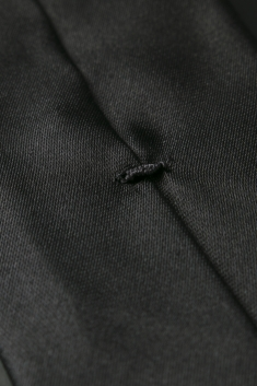Black thin silk tie