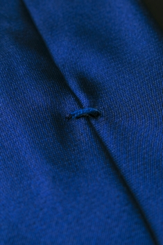 Blue thin silk tie