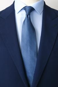 Light blue spotted silk tie