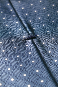 Grey spotted silk tie