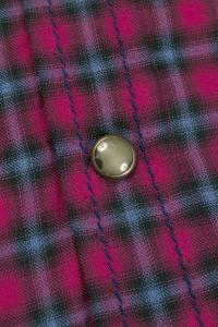 Greenwich - Chemise casual flanelle à motif tartan bordeaux