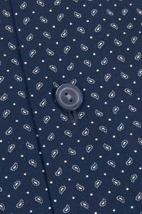 Capri - Chemise casual bleu marine à motifs cachemire