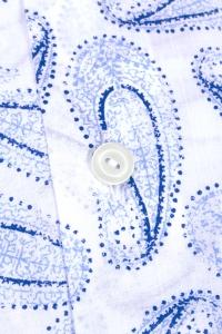 Bali - Chemise casual bleu mousseline à motifs cachemire