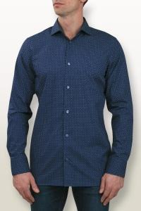 Capri - Navy blue cashmere printed casual shirt