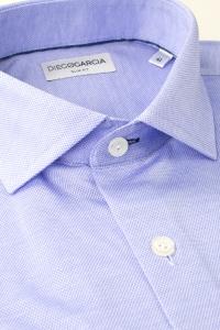 Barcelona - Blue piqué cotton casual shirt