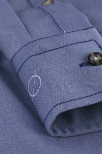 Memphis - Chemise casual denim bleu à poches