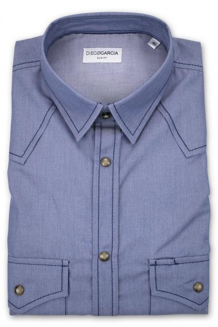Memphis - Denim western shirt