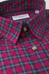Greenwich - Burgundy tartan flannel shirt