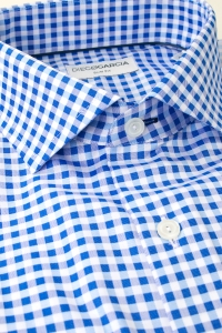Brighton - Blue vichy casual shirt / Slim fit