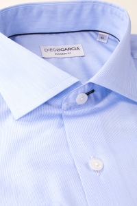 Stanford - Blue fine striped classic shirt