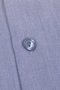 Stockholm - Chemise classique popeline gris bleuté