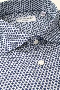 Salamanca - Navy blue diamond flannel shirt