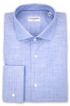 Melbourne - Blue chambray dress shirt / Regular fit