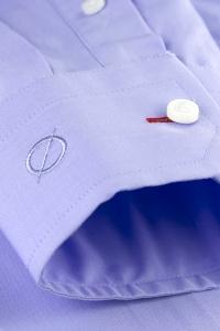 Duomo - Chemise classique popeline bleu violet / Slim
