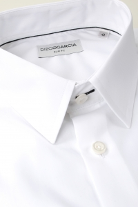 Manhattan - Chemise habillée popeline blanche / Slim
