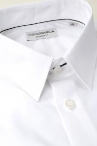 Manhattan - Chemise habillée popeline blanche / Regular