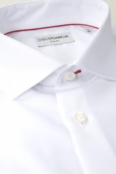 Chemise Blanche Coton italien Oxford à coupe ajustée