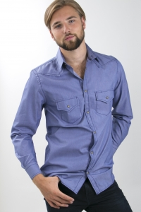 Memphis - Denim western shirt