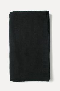 Echarpe cachemire tricotée noire