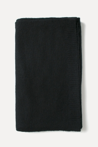 Black knitted cashmere scarf