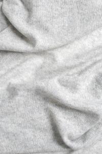 Echarpe cachemire tricotée argent