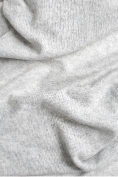 Écharpe cachemire tricotée gris