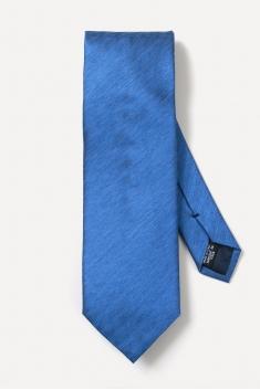 Blue woven silk tie