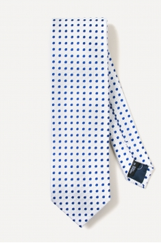White spotted silk tie