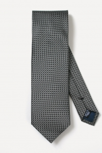 Black with white circle tie