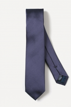 Grey thin silk tie