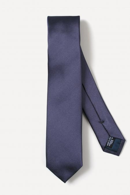 Grey thin silk tie