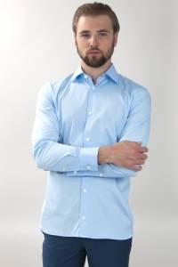 Executive bleue grde longueur manche